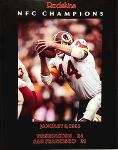 1984 Redskins NFC Champions Poster
