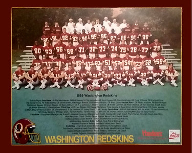 1989 Hardee's and Diet Coke Redskins Team Poster