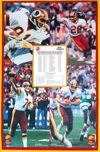 1985 Roy Rogers Redskins Poster