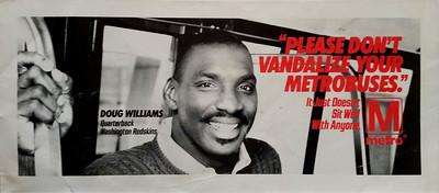1988 WMATA Doug Williams Poster