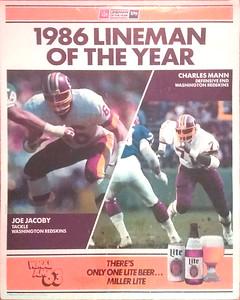 1986 Miller Lite LOY Redskins Poster WMAL Variation