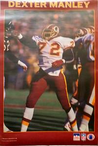 1988 Starline Dexter Manley Poster