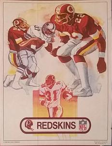 1983 Kellogg's Redskins Poster