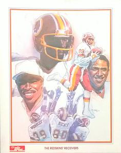 1984 Dr. Pepper Redskins Receivers Poster