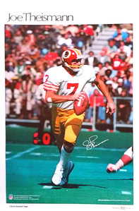 1980 Marketcom Joe Theismann Poster