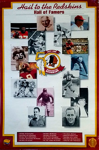 1986 Redskins 50th Anniversary Poster