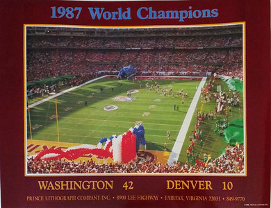 1988 Prince Lithograph Redskins Poster
