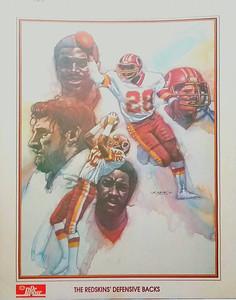 1984 Dr. Pepper Redskins Defensive Backs Poster