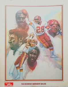 1984 Dr. Pepper Redskins Defensive Backs Poster