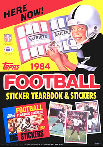 1984 Topps Football Stickers Promo Poster