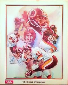 1984 Dr. Pepper Redskins Offensive Line Poster