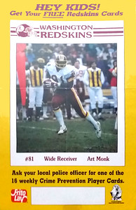 1985 Redskins Police Cards Art Monk Poster