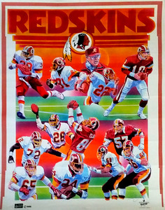 1986 International Galleries Redskins Poster