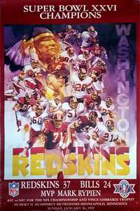1992 Super Bowl XXVI Champs Poster