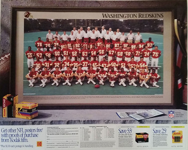 1991 Kodak Redskins Team Photo