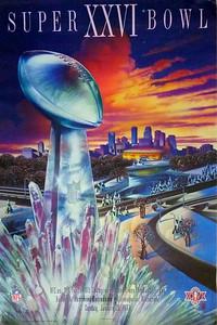 Super Bowl XXVI Poster