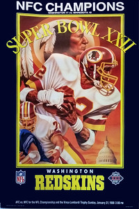 1988 Redskins NFC Champs Super Bowl XXII Poster