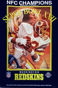 1988 Redskins NFC Champs Super Bowl XXII Poster