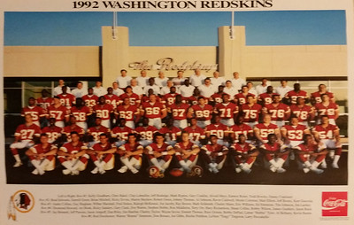 1992 Coke Redskins Team Poster