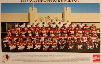 1992 Coke Redskins Team Poster