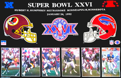 1992 StarLine Super Bowl XXVI Poster
