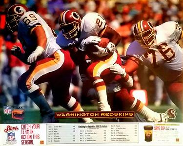 1992 Kodak Redskins Schedule Poster