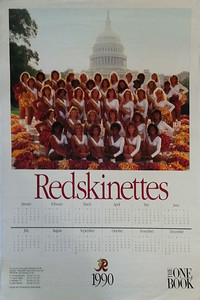 1990 One Book Redskinettes Poster