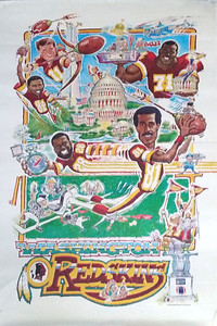 1990 International Galleries Redskins Poster