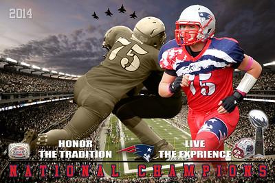 2014 Patriots Football Poster National Champion 2 upper left