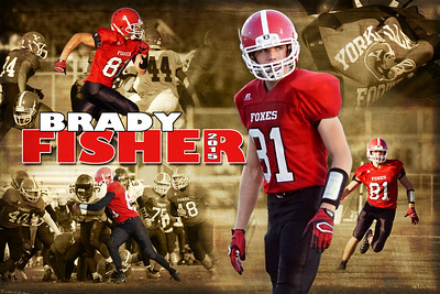 2015 Brady Fisher JV Football Poster
