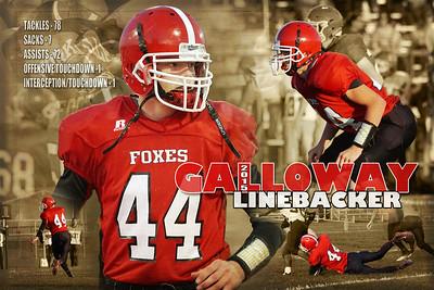 2015 Chris Galloway JV Football Poster