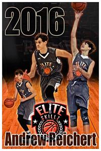 2016 Andrew Reichert Basketball Poster Glow