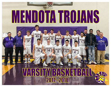 11x14 Mendota Trojans Basketball Team Pictures