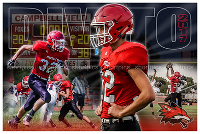 2017 Chase DiVito Football Poster