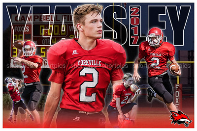 2017 Cole Yearsley Football Poster