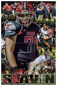 2017 Josh Slavin Football Poster Version 2