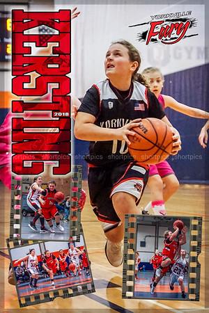 2018 Kersting Fury Basketball Poster Poster