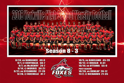 2018 16x24 Yorkville Varsity Football Print 2