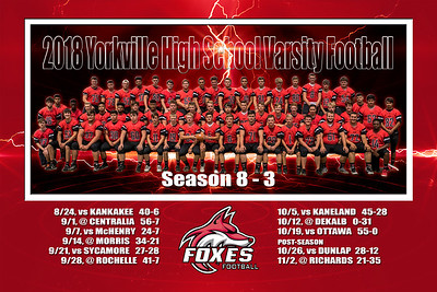 2018 12x18 Yorkville Varsity Football Print