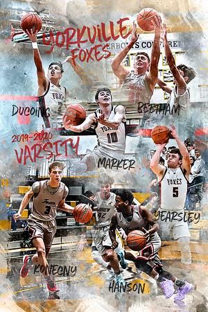 24x36 Yorkville Varsity Basketball Poster