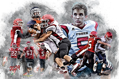 24x36 Garton Football Poster Epic Grunge