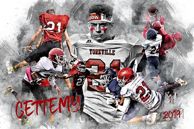 24x36 Gettemy Football Poster Epic Grunge 3