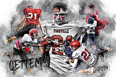 24x36 Gettemy Football Poster Epic Grunge