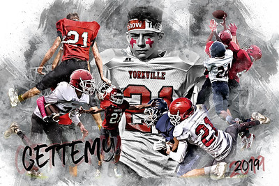 24x36 Gettemy Football Poster Epic Grunge 2