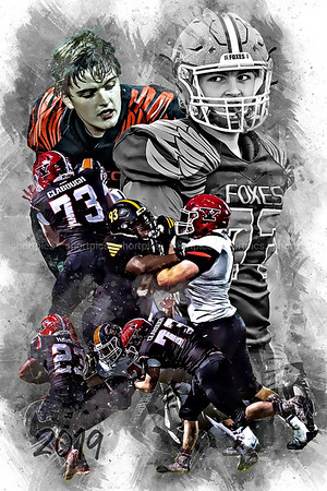 2019 Kyle Clabough Football Poster Epic Grunge Color