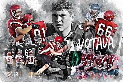2019 Votava Football Poster Epic Grunge Color