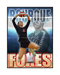 16x20 Bourque Volleyball Print for Signatures