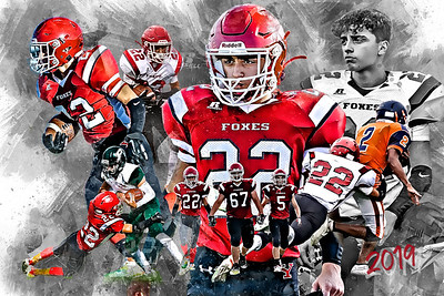 2019 Zamora Football Poster 2 Epic Grunge Color