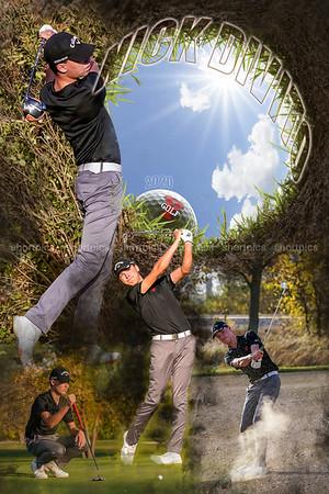 24x36 Nick Divito Golf Poster