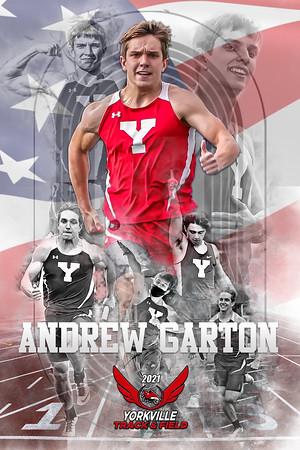 Andrew Garton Track Poster flag